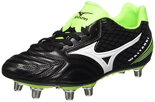 Mizuno Herren Waitangi Ps Rugbyschuh, Black (Black/White/Green Gecko), 44 EU