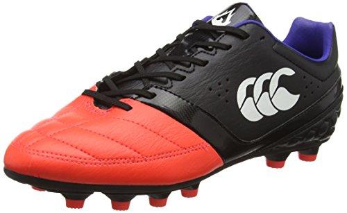 Canterbury Herren Phoenix Club Moulded Rugbyschuhe, Schwarz (98A Black/Firecracker), 42.5 EU
