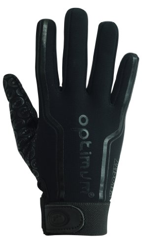 Optimum Herren Rugby-Handschuhe Velocity, Thermohandschuhe schwarz Plain Black S