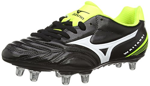 Mizuno  Waitangi Cl, Herren Rugbyschuhe, Schwarz – Black (Black/White/Yellow), Gr. 42 EU (8 UK)
