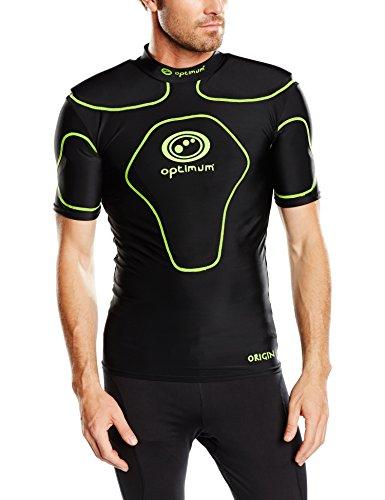 Optimale Men'Schutzkleidung Origin Schulterpolster Medium schwarz – schwarz / leuchtend gelb