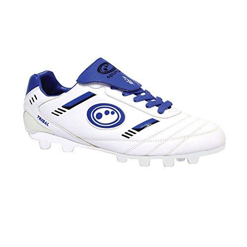 Optimum Tribal geformte Rugby Stiefel Senior [weiß/blau], weiß, 43