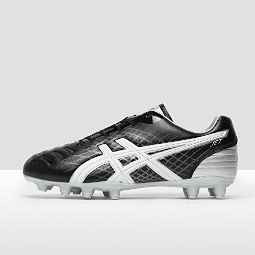 Asics Jet CS Rugby Stiefel, Schwarz/Weiß/Silber, 42.5