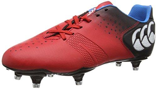 Canterbury  Control Club (6 Stud),  Herren Rugbyschuh , Rot – Red (True Red) – Größe: 44