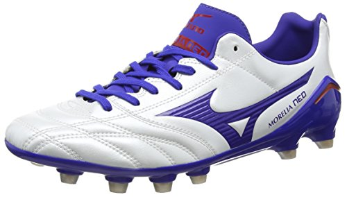 Mizuno  Morelia Neo Ps Md,  Herren Rugbyschuh , Weiß – White (Pearl/Surf the Web/Chinese Red) – Größe: 43