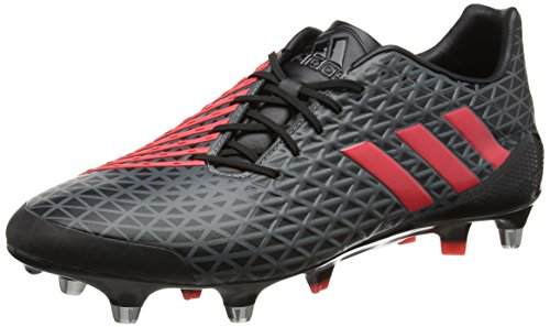 Adidas Herren Predator Malice Sg Rugbyschuhe, Schwarz (Negbas/Rojimp/Grivis), 46 EU