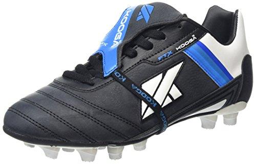 KOOGA Nuevo FTX LCST Moulded Erwachsene Rugby-Schuhe Schwarz/Weiß/Blau 11H