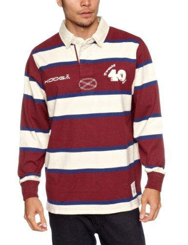 Kooga Herren Rugby-Hemd Stade Vintage rot burgunderfarben Small