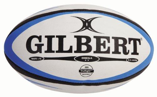 Gilbert Herren Rugbyball Omega Match mehrfarbig blau / schwarz Size 5