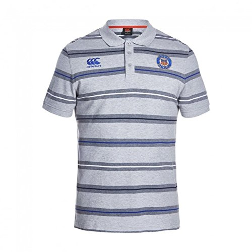 Bath 2016/17 Players Media Striped Rugby Polo Shirt – size S