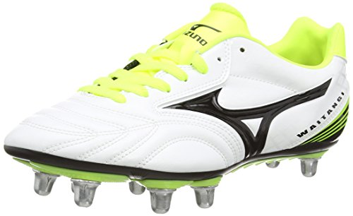 Mizuno Waitangi Ps, Herren Rugbyschuhe, Weiß (white/black/yellow), 42 1/2 EU (8.5 UK)