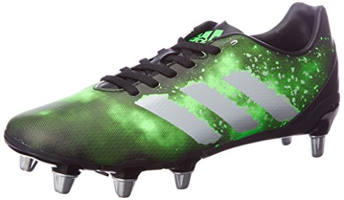 adidas Herren Kakari SG Rugbyschuhe, Nero (Negbas/Plamet/Versol), 45 EU