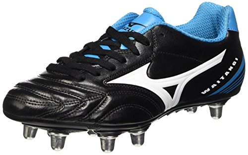 Mizuno Herren Waitangi Cl Rugbyschuh, Black (Black/White/Atomic Blue), 50 (14 UK)