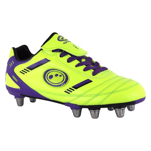 Optimum Tribal, Herren Rugbyschuhe, Gelb (Yellow/Purple) , 46.5 EU