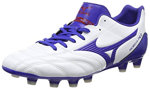 Mizuno Morelia Neo Ut Md, Herren Rugbyschuh, White (White/Surf the Web/Chinese Red), 44.5 EU (10 UK)