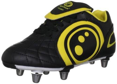 Optimum Jungen Rugby-Stiefel Eclipse mehrfarbig Black/Yellow 6  UK
