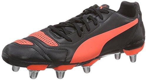 Puma evoPOWER 4.2 Rugby H8, Herren Rugbyschuhe, Schwarz (black-white-lava blast 01), 43 EU (9 Herren UK)