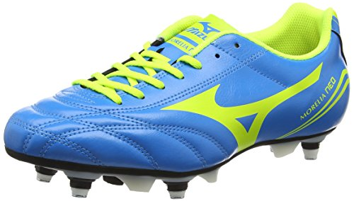 Mizuno Morelia Neo Cl Mix Herren Fußballschuhe, Blau (Diva Blue/Safety Yellow), 44.5 EU (10 UK)