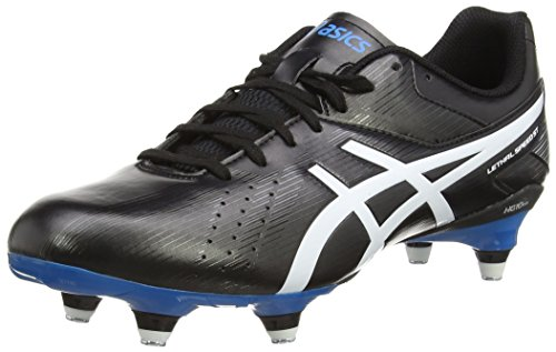 ASICS Lethal Speed St, Herren Rugbyschuhe, Schwarz (black/white/methyl Blue 9001), 44.5 EU