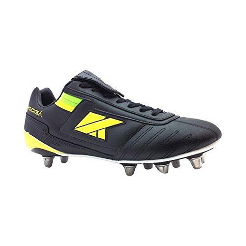 KOOGA Lightning LCST Rugby Stiefel Junior [schwarz/gelb/grün], schwarz, 4.5 UK
