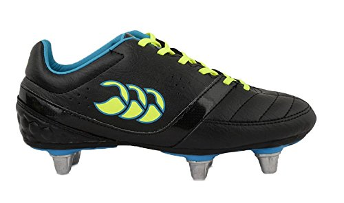 CANTERBURY Phoenix Club 6 Stud Rugby Stiefel, Unisex – Kinder, Black/Safety Yellow