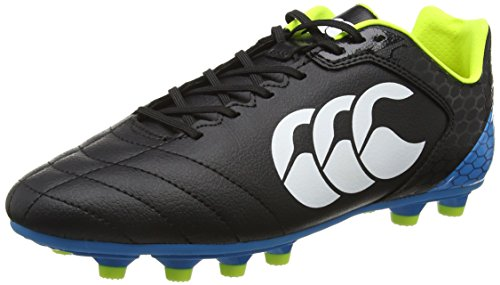 Canterbury Herren Stampede Club Moulded Rugbyschuhe, Schwarz (989 Black/Red/White), 42.5 EU