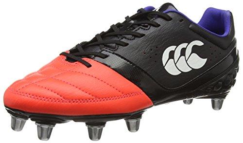 Canterbury Herren Phoenix Club 8 Stud Rugbyschuhe, Schwarz (98A Black/Firecracker), 48 EU