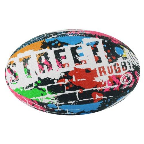 Optimum Street Rugby Ball, Schwarz, Größe 3 schwarz schwarz 4