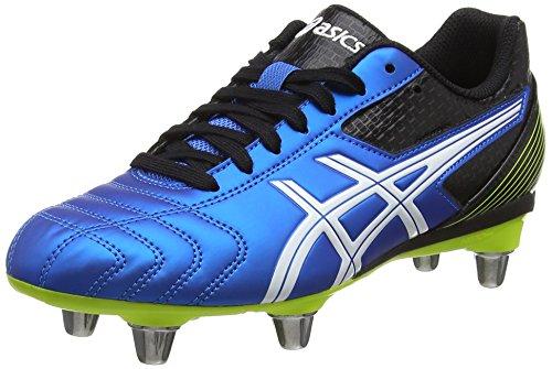 Asics Lethal Tackle Gs, Unisex-Erwachsene Rugbyschuhe, Blau (electric Blue/white/flash Yell 3901), 36 EU
