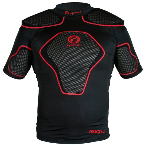 Optimum Jungen Schutzkleidung Origin mit Schulterpolster schwarz schwarz/red M