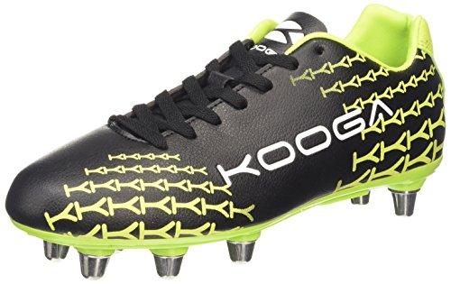 Kooga Control, Herren Rugbyschuhe, Schwarz (black/lime), 47 EU