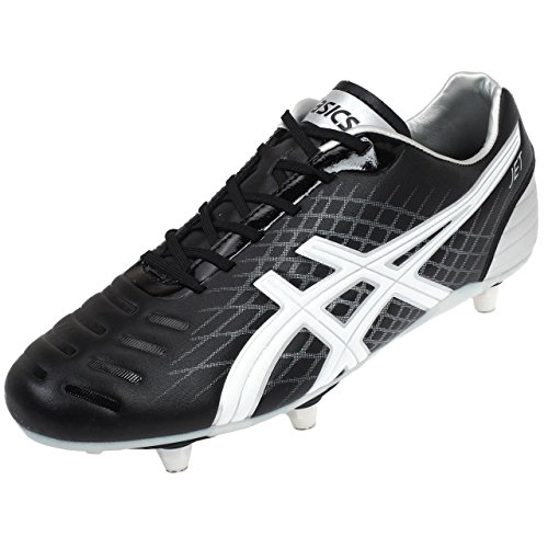 asics jet st rugby stiefel schwarz wei silber 48. Black Bedroom Furniture Sets. Home Design Ideas