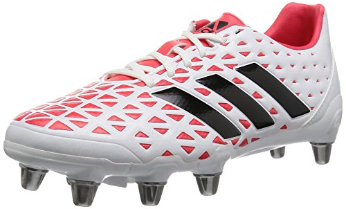 adidas Herren Kakari Elite SG Rugbyschuhe, Blanco (Ftwbla / Negbas / Rojimp), 45 1/3 EU