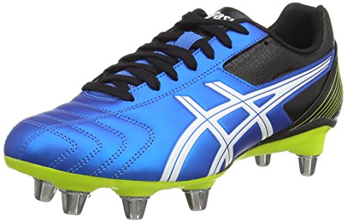 Asics Lethal Tackle, Herren Rugbyschuhe, Blau (electric Blue/white/flash Yell 3901), 42.5 EU