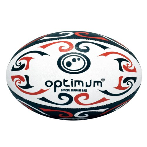 Optimum Trainings-Rugbyball Tribal Red/White/Black Size 3