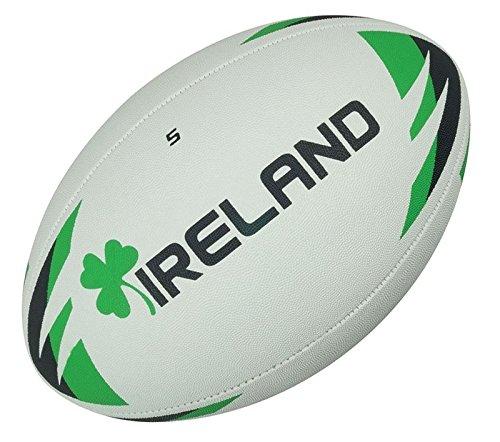 Präzision Irland Rugby Ball Größe 5, Weiß/Grün/Schwarz, 5