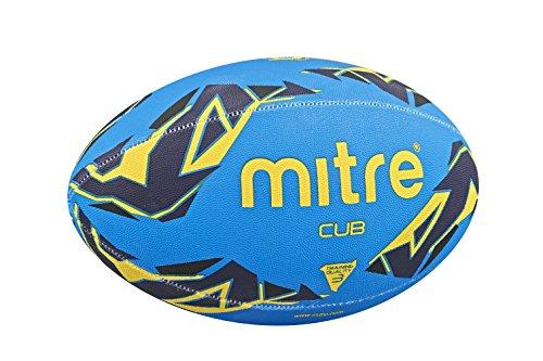 Mitre Rugby-trainingsball Cub, Blau/Marine/Gelb, 3, BB1154