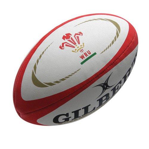GILBERT Wales International Replik Rugby Ball, weiß