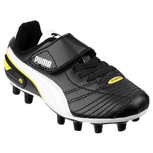 Puma Esito XL Kinder Jungen FG Fußball/Rugby Schuhe (28 EU) (Schwarz)