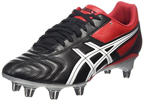 ASICS Lethal Tackle, Herren Rugbyschuhe, Schwarz (black/racing Red/white 9023), 42.5 EU
