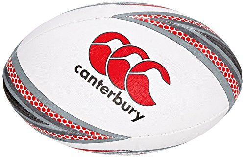 Canterbury Mentre Rugby Ball – Flag Red/Black, Size 5