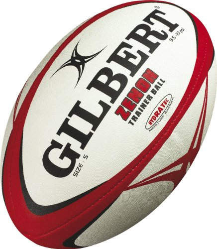 GILBERT Zenon Trainer Rugbyball, Rot/Schwarz, 4